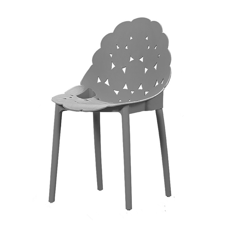 china new design pp plastic dining chair grey