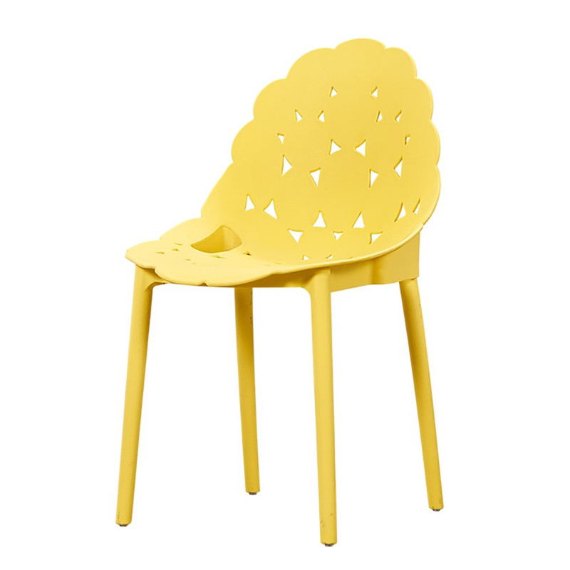 china new design pp plastic dining chair yellow