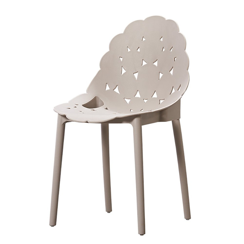 china new design pp plastic dining chair light grey