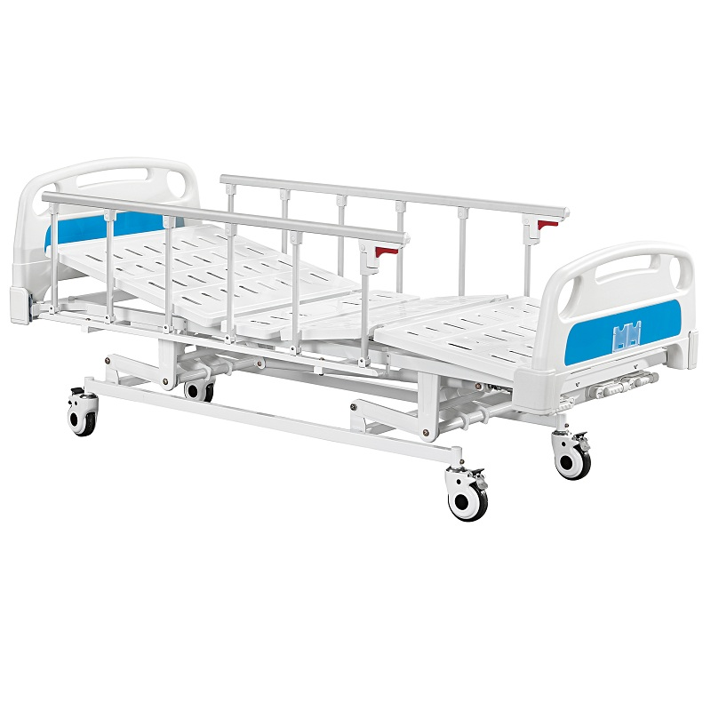 3 cranks manual hospital medical bed wholesale