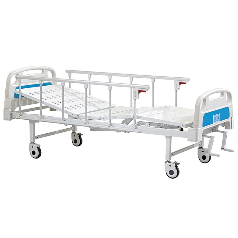 2 cranks manual hospital medical bed icu made in china