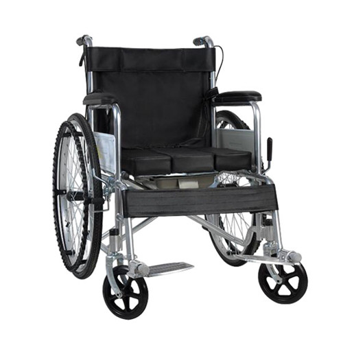 wheelchair manual hospital home steel portable black